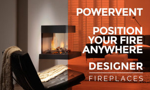 Powervent from Dru Fires, have your fire place anywhere